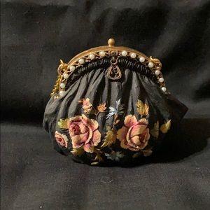 Nostalgia miniature purse Black & Pink Rose